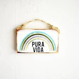 """Pura Vida"" Handmade Wall Decor"