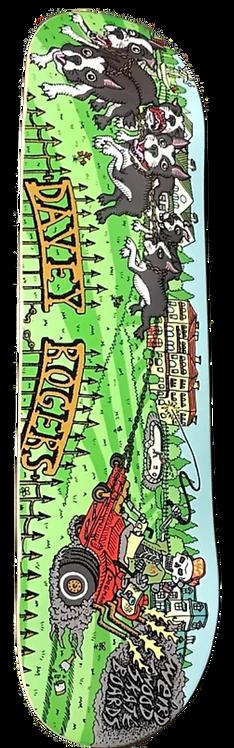 WEIRD WOOD SKATE- DAVEY ROGERS DECK
