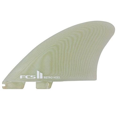 FCS II Retro Keel PG Twin Fin Set-Clear