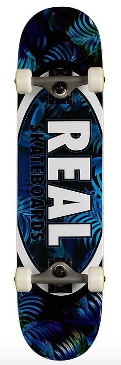 REAL Skateboards Oval Leaves Blue