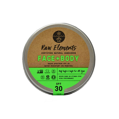RAW ELEMENTS FACE + BODY TIN SPF 30 *PLASTIC FREE*