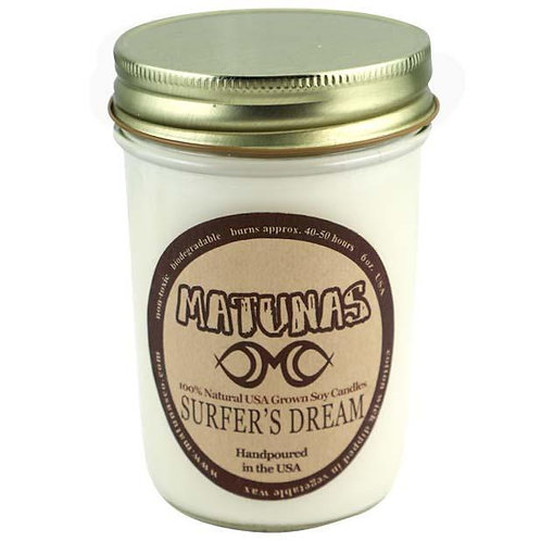 "Matunas ""Surfer's Dream"" All Natural Mason Jar 8oz Candle"