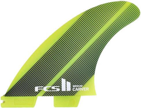 FCS 2 Essential Carver Thruster Medium Neo Glass Acid Gradient Yellow