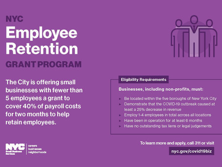 NYC Employee Retention Grant Program Applications End Friday