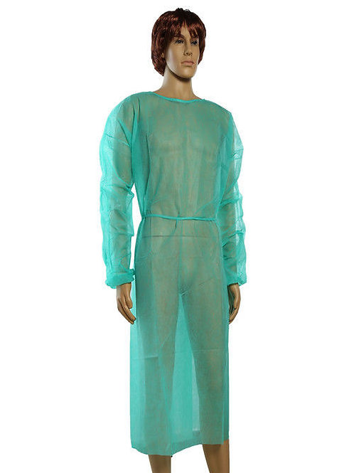 Disposable surgical gown with back closure (white)