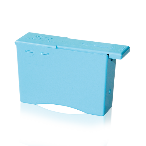 Disposal container for blades