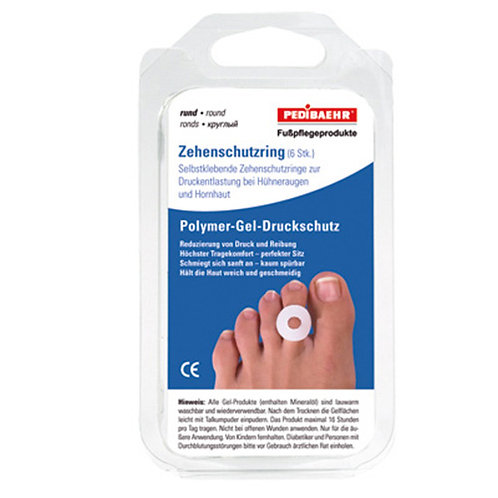 Gel toe protection rings (round)