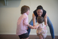 dancing with baby toddler