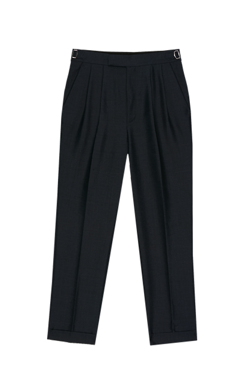 FRESCO 2-PLEATED TAILORED TROUSERS