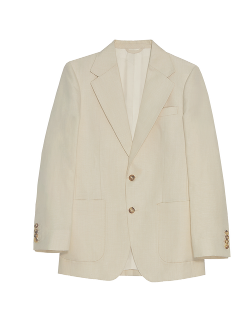 LINEN BLENDED 2 BUTTONS SPORTS JACKET