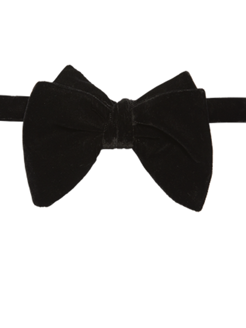 BUTTERFLY STYLE HAND-CRAFTED VELVET BOW TIE
