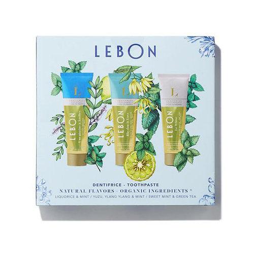 """""""Lebon Mėlynoji nuotaika"""" dantų pastų rinkinys, 25 ml, 3 vnt."""