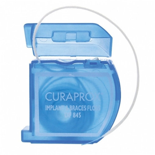 """Curaprox DF 845"" siūlas po tiltais, implantams ir breketams valyti, 50 vnt."