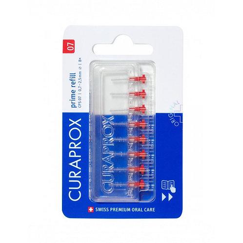 """""""Curaprox CPS 07"""" tarpdančių šepetėliai be kotelio, >0.7 mm tarpams, 8 vnt."""