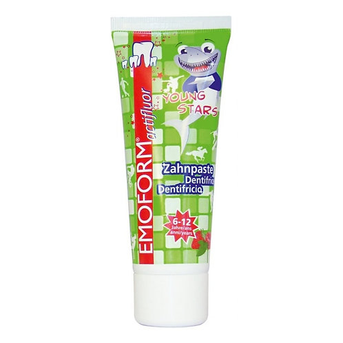 """Emoform Actifluor Youngstars"" vaikiška dantų pasta, 6 - 12 m., 75 ml"
