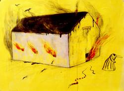 해피의 집-1999 종이에 수채,연필 75x 50cm.jpg