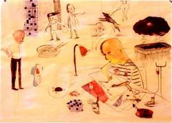 세브르 일기-1999 종이에 연필수채75 x50cm.jpg