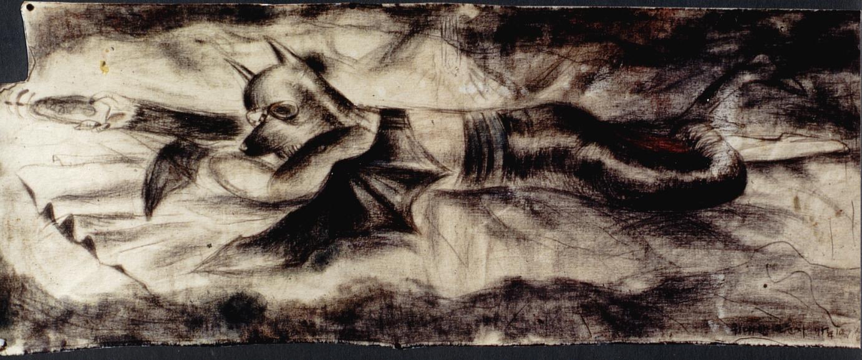 위대한 은둔자-1996 천위에목탄130x50cm.jpg
