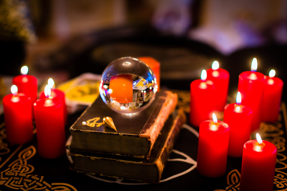 Crystal ball to prophesy or esoteric cla