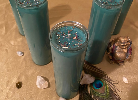 New Moon Healing Prosperity Candle