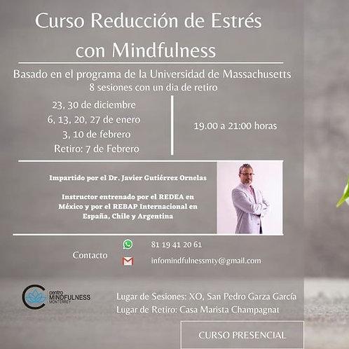 Curso de reducción de estrés con Mindfulness presencial - 23/Dic (pago 3)