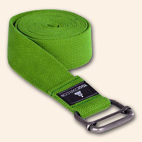 Yoga belte 300 cm x 4 cm, farge Kiwi grønn.
