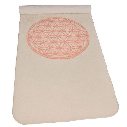 """Yogamatte ull """"Flower of life"""" 198 x 85 cm"""