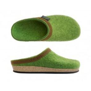 Slip In  Ullfilt tøffler/ sko for damer, limegrønn