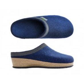 Slip In sko i ullfilt for damer, havblå