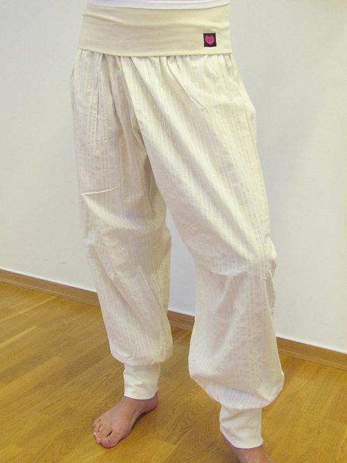 Pax yogabukse med tynne sølv-/vevd striper