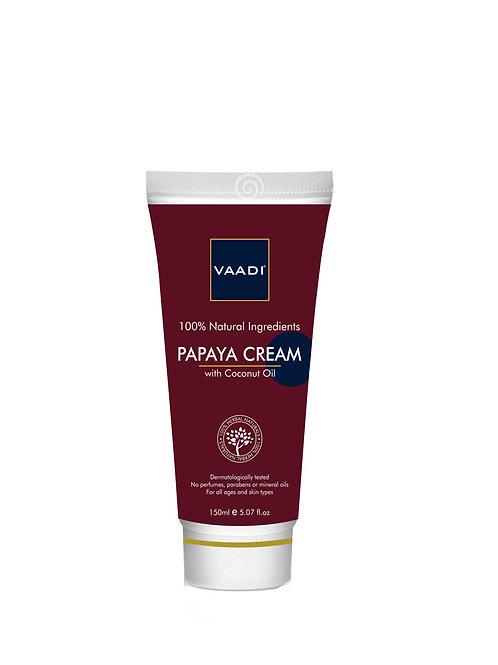 Papaya Cream, with coconut oil.
