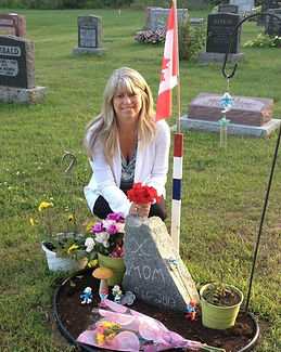 At friend's gravesite on 1 year anniversary