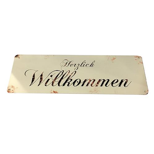 """Spruch-Tafel """"Herzlich Willkommen"""""""
