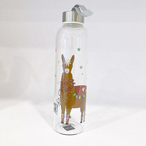 Trinkflasche Glas Lama