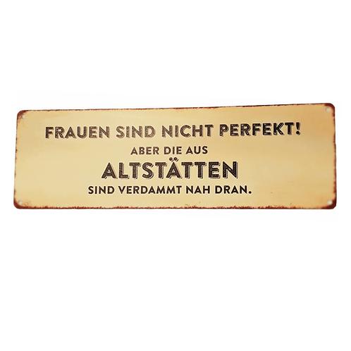 "Spruch-Tafel ""Perfekte Frauen"""