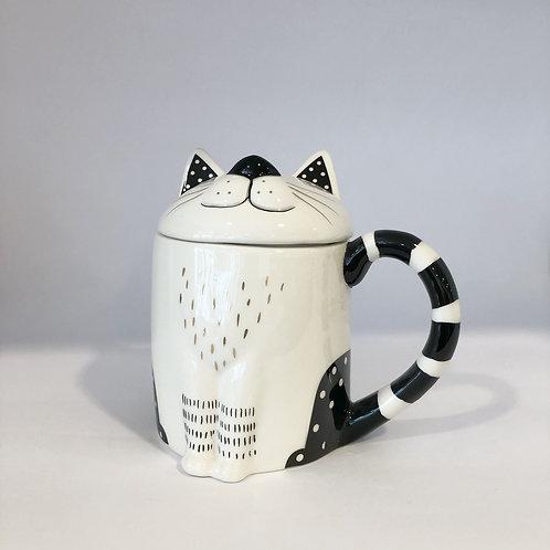Tasse mit Deckel,Katze