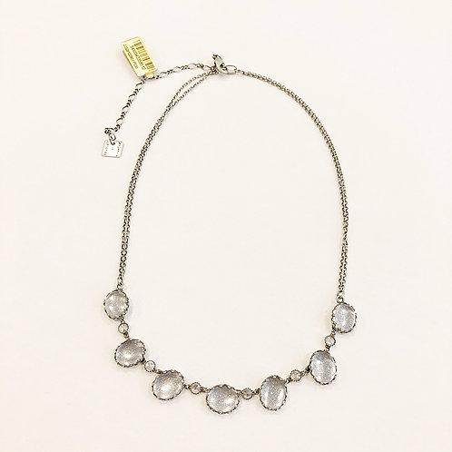 Halskette P038 Grau Swarovski