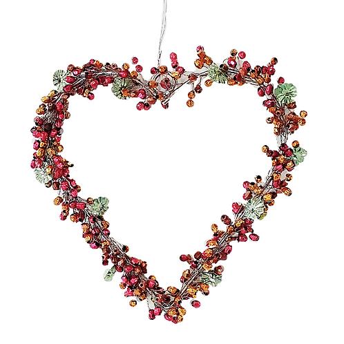 Perlen-Herz Rot-Grün