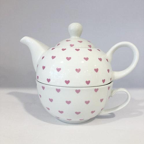 Teekanne 3tlg rosa
