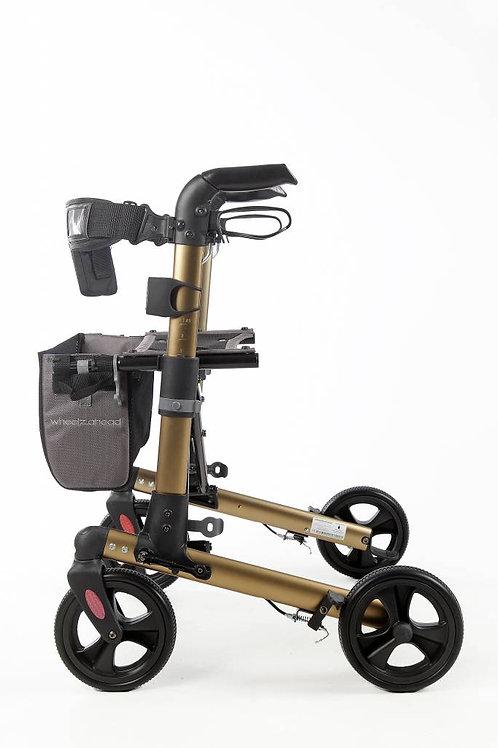 Rollator wheelz ahead trach champagne