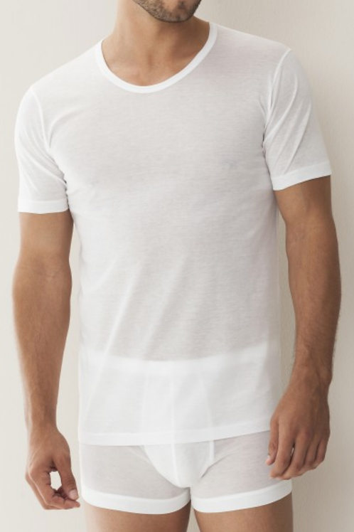 Zimmerli Mens T-Shirt Short Sleeve 8125 White
