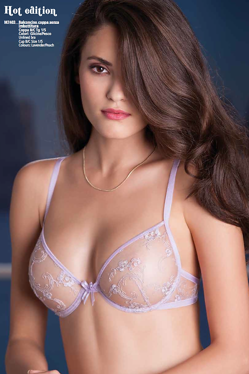 Leilieve Glamour Lilac Lace Bra M7403