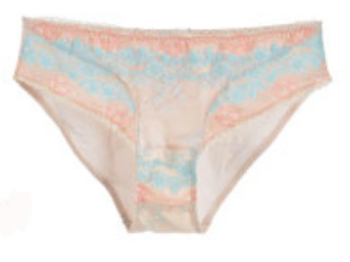 Leilieve Peach Full Coverage Lace Brief 7201X