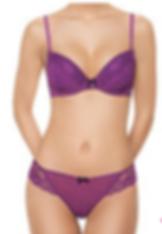 Bra and Panties set in violet color