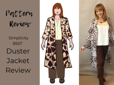 Simplicity 8557 Duster Jacket Review
