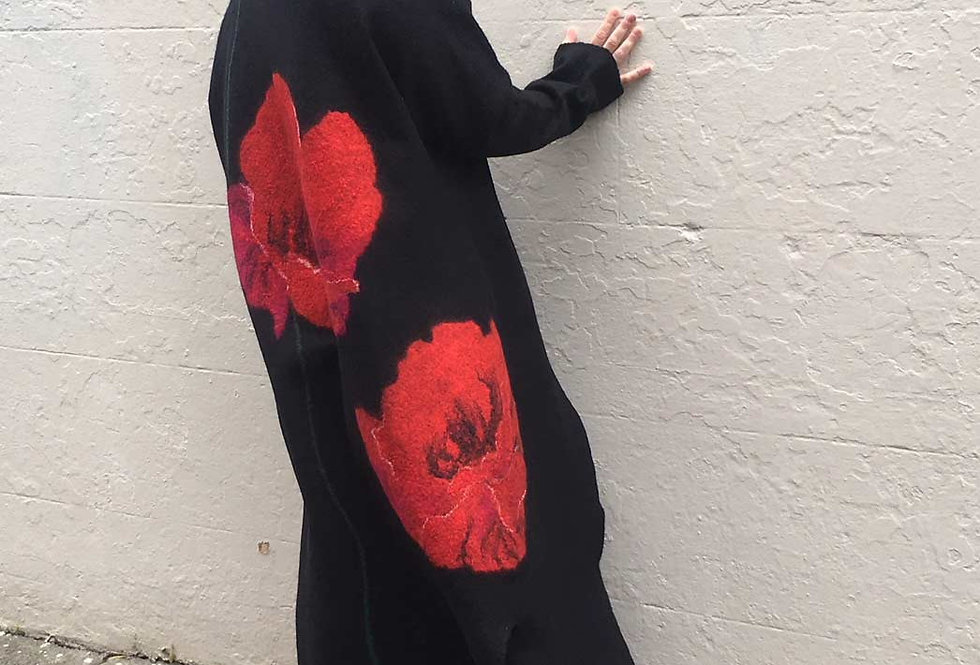 Unique Merino Felted Fashion Coat
