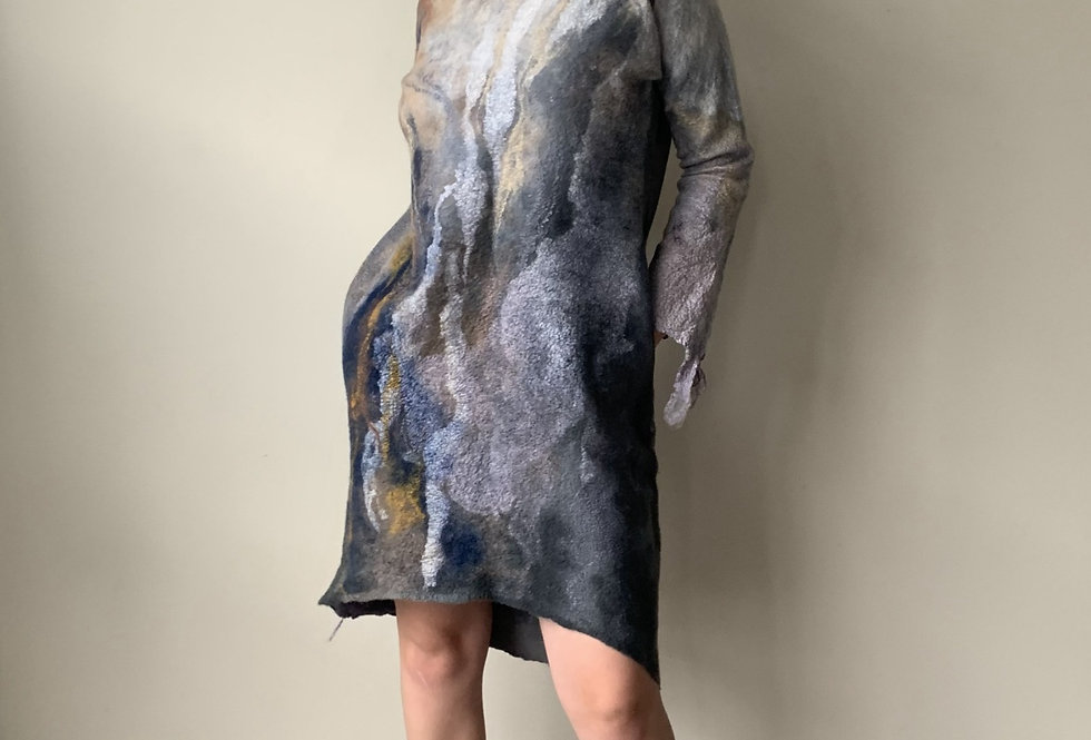 Nuno Felted Reversible Dress