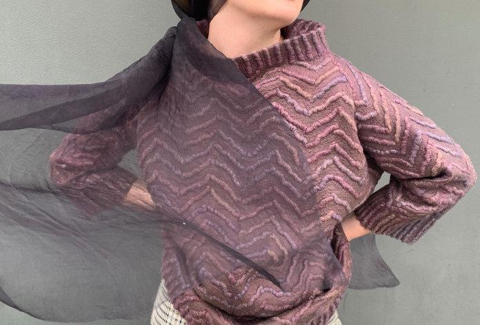 Contemporary Art Eco Fashion Handmade Jacket