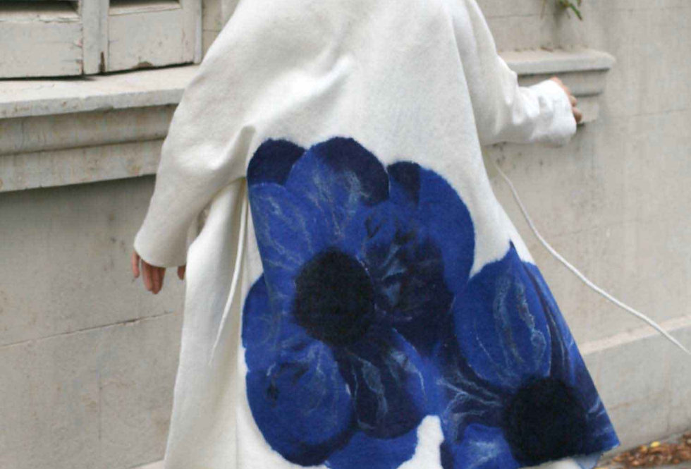 Wool summer felted coat