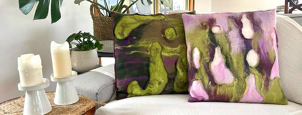 Sustainable Decorative Green Pillowcase 55x55